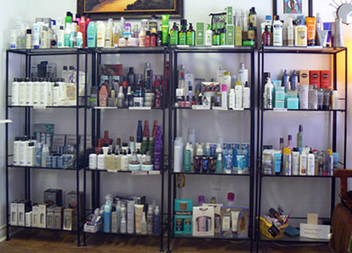 products on shelf